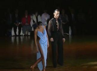 Jurados não tiraram os olhos do vestido invulgar da concorrente de dança