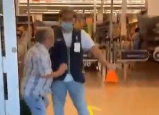 Cliente tenta entrar à força em supermercado nos EUA sem máscara