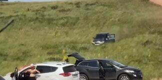 Condutor esquece do travão de mão e quase atropela várias pessoas