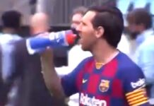 Vídeo revela tensão entre Messi e o treinador adjunto do Barcelona