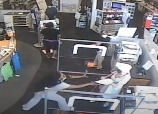 Cliente da Staples parte a perna a mulher que lhe pediu para usar máscara