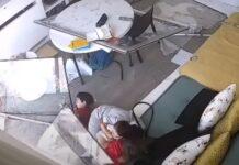 Mãe e 3 filhos ficam em desespero durante explosão de Beirute