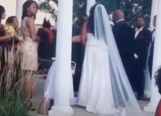 Mulher grávida invade casamento do amante e diz que está ali o seu filho
