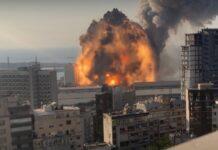 Vídeo captou explosão em Beirute com imagens em 4K