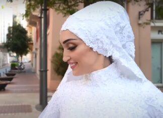 Vídeo mostra exato momento em que noiva é apanhada por explosão em Beirute