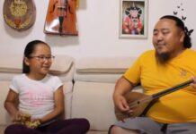 Pai e filha fazem furor com apresentação de música tradicional da Mongólia