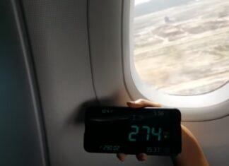 Passageiro testa a velocidade a que viaja um Airbus A320