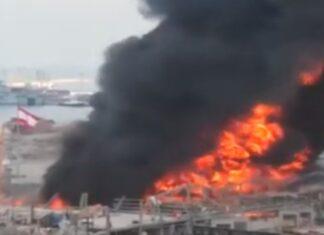 Porto de Beirute sofre grande incêndio um mês depois das explosões