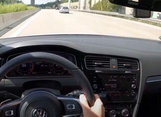 Acidente em Autobahn com carro que circulava a 240 km por hora