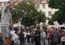 Centenas de portugueses protestam em Lisboa contra medidas do governo para a Covid-19