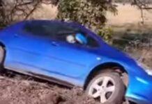 Condutor diz a homem que se despistou que não pode estar ali estacionado
