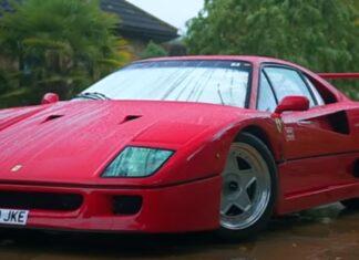 Homem de 80 anos conduz Ferrari F40 no seu dia a dia
