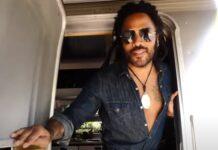 Lenny Kravitz mostra a sua caravana onde vive nas Bahamas