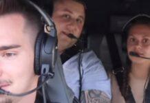 Portuguesa é apanhada em partida do namorado em helicóptero