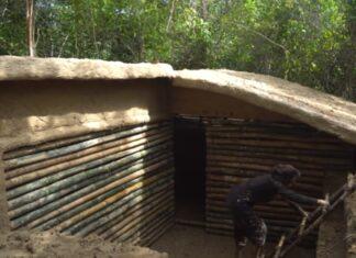 Tailandesa faz uma casa subterrânea só com ferramentas básicas
