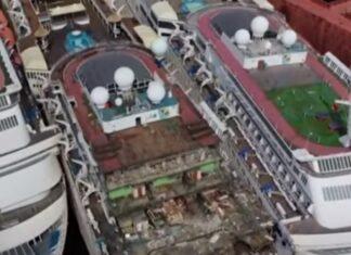 Vídeo mostra-nos um cemitério de navios de cruzeiro de luxo na Turquia