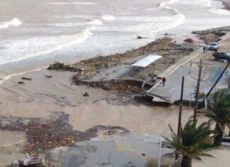 Drone capta imagens do caos na ilha de Creta depois de tempestade