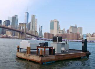 Escritório flutuante no rio em NY garante distanciamento social para evitar contágio