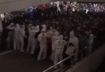 Milhares de pessoas foram isoladas em aeroporto de Pudong para testagem em massa