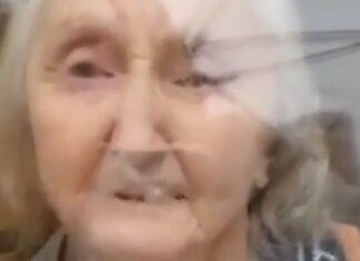 Mulher de 85 anos chora por não terem deixado abraçar a sua filha