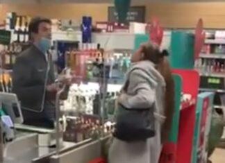 Mulher irrita-se e cospe em funcionário depois de cartão ter sido recusado