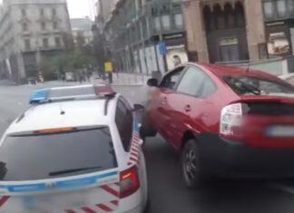 Polícia na Hungria causa grande acidente de carro