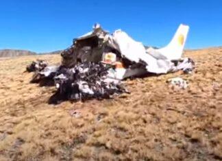 Explorador depara-se com aeronave destruída durante caminhada