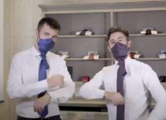 Empresa italiana cria gravata que pode ser transformada em máscara