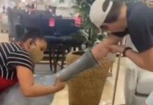 Jovem fica com o braço preso dentro de uma jarra