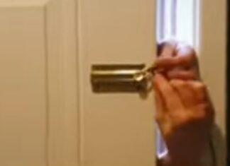 Homem consegue abrir porta em segundos, mesmo com corrente de segurança