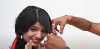 Jovem de 18 anos corta o cabelo depois de 12 anos sem ver uma tesoura