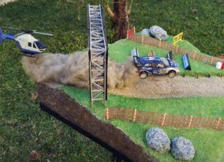 Português cria cenário em miniatura do salto de rali de Fafe