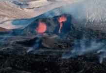 Vídeo capta imagens e sons de erupção de vulcão islandês