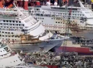 Vídeo mostra como se destroem navios de milhões de dólares