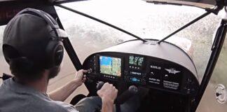 Americano filma voo durante tempestade
