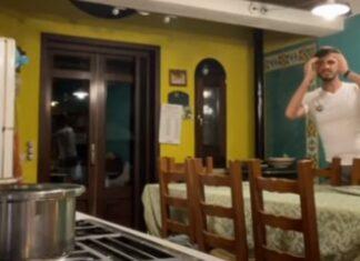 Italiano fica «fulo» ao ver namorada partir esparguete à sua frente
