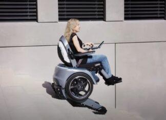 Cadeira de rodas elétrica permite descer escadas e subir a cadeira